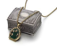Hobbit Lord of the Rings Locket Movable Door Pendant Necklace w/ Jewelry Box