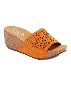 5c709166a Orange Donna Suede Sandal  zulilyfinds Suede Sandals