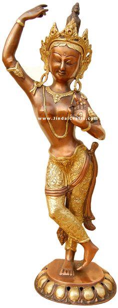 images buddist godess tara | Buddhist Goddess Tara Sculpture Statue Idol Antique Art Handmade Brass ...