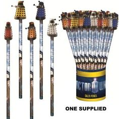 Doctor Who Pencil with 3D Dalek Topper £1.95 DO WANT.