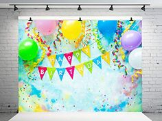 Kate 7x5ft Happy Birthday Backdrop Colorful Wall Balloons Pattern Background Children Birthday Photography Backdrops ... Birthday Backdrop, Birthday Photography, Pattern Background, Photography Backdrops, Wall Colors, Balloons, Happy Birthday, Colorful, Amazon