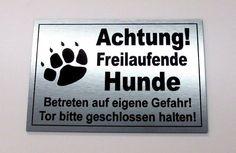 Tatzen 15x20-40x60cm Hund 5 Sekunden Aufrichtig Schild Vorsicht