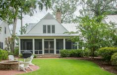 Screened Back Porch | Outdoor Living Ideas | Lowcountry Living | Beautiful Homes in Bluffton, South Carolina