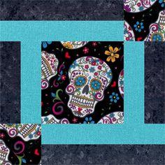 Sugar Skull quilt pattern by Quarter Inch Publishing, featured at ... : sugar skull quilt pattern - Adamdwight.com