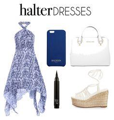 """Halter Dress"" by abbeyhopp ❤ liked on Polyvore featuring Chloé, Michael Kors, Balmain and halterdresses"