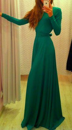 diy long sleeve maxi dress - Google Search