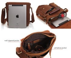 Handmade Leather Messenger Bag / iPad Bag