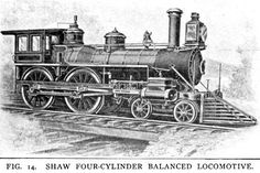 In 1881 there was built at the Hinkley Locomotive Works, Boston, a four-cylinder balanced engine, called the H. F. Shaw,