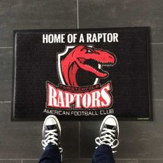 Raptors-Fußmatte #fussmatte #doormat #matmaker American Football, Football