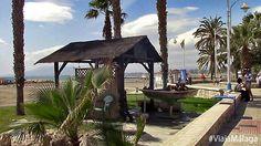 Chiringuito en la playa dónde se hacen los pescaitos de la bahía de Málaga.