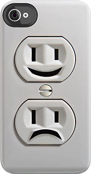 Emotional Electricity Plug Outlet iphone 4 4s, iPhone 3Gs, iPod Touch 4g case by Pointsale store