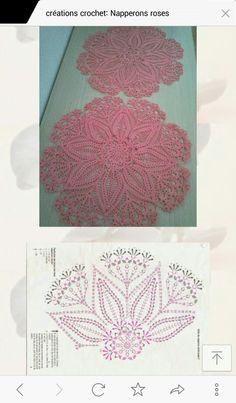 도일리 Crochet Doily Patterns, Crochet Motif, Crochet Doilies, Crochet Diagram, Diagram Chart, Rose, Crochet Projects, Creations, Bunny