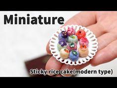 미니어쳐 찹쌀떡 만들기(모던 타입) - Miniature sticky rice cake - YouTube