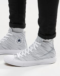 43518f79f558 Converse Chuck Taylor All Star II Knit Hi Top Plimsolls