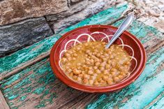 This traditional dish from the Greek Island of Sifnos is slow-cooked overnight in a clay pot. A Sunday lunch favourite, on Saturday nights locals take their clay pots to the neighbourhood baker's wood oven where they sit overnight. Wood Oven, Chickpea Soup, Slow Food, Clay Pots, Greek Islands, Slow Cooker, Greece, Healthy Eating, Sunday