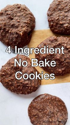 Cookies Healthy, Healthy Sweet Snacks, Healthy Cookie Recipes, Fun Baking Recipes, Healthy Baking, Healthy Desserts, Low Carb Recipes, Vegan Recipes, Cooking Recipes