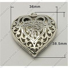 Metal Alloy Pendants, Antique Silver Color, Lead Free and Nickel Free, Heart, 36x38.5x9mm, Hole: 2mm