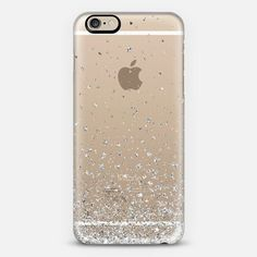 Silver Stars Rain Transparent iPhone 6 case by Organic Saturation | Casetify