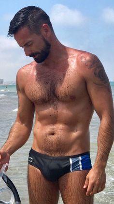 Fantasy Play, Hot Beach, Beach Guys, Hairy Chest, Male Physique, Hairy Men, Hot Guys, Hot Men, Handsome