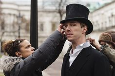 Parade's End - Benedict Cumberbatch filming the sequence where Christopher marries Sylvia, Cathedral of Saint Michael in Brussels.