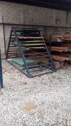 Metal Storage Racks, Lumber Storage, Metal Rack, Metal Shop, Welding Shop, Diy Welding, Welding Table, Workshop Design, Workshop Storage