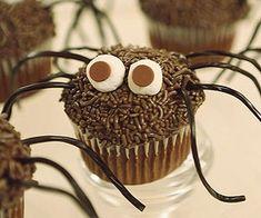 Daddy longlegs cupcakes food creepy chocolate cupcakes halloween halloween pictures happy halloween halloween images halloween food