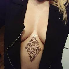 #tattoo #roses #geometric