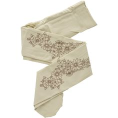 Unique opaque tights by Zohara. The DAISY Cream Tights have a 120 denier appearance, cream color and an exquisite floral pattern in brown color. They have an e…