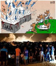 Image result for israelis watching gaza bombing meme