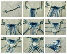 Mavramé Macrame Earrings, Macrame Colar, Macrame Art, Macrame Projects, Macrame Bracelets, Macrame Jewelry, Macrame Patterns, Jewelry Patterns, Hemp Jewelry