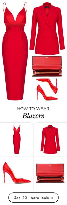 """Lady in Red"" by cherieaustin on Polyvore featuring Rasario, Gianvito Rossi and Dolce&Gabbana"
