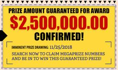prize amount guaranteed for award Lotto Winning Numbers, Lotto Numbers, Instant Win Sweepstakes, Online Sweepstakes, Lottery Winner, Lotto Winners, Winning Lotto, Pch Dream Home, Promotion Card