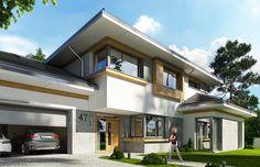 Projekt domu Spokojny zakątek - wizualizacja frontu 2