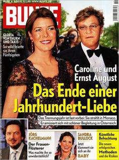 BUNTE Cover / BUNTE Titelbild vom 08. Mai 2010 - Caroline und Ernst August