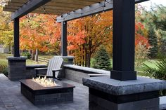 Stone Patio and Firepit Construction