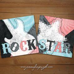 Rock & Roll Girl Bedroom Prints   Rockstar by JenniferPughStudios