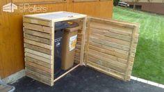 Pallet Garbage Bin Shelter Pallet Boxes & Chests