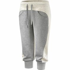 Femmes Pantalon de survêtement 3/4 Essentials, Core Heather / Powder Mel, zoom