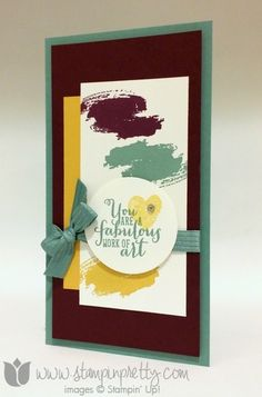Stampin up stampinup stamp it pretty demonstrator blog work of art set cards idea mojo monday