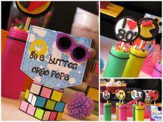 Monísimos! Galletas oreo decorados al estilo años 80... / So cute! Decorated 80s Oreo cookie pops...