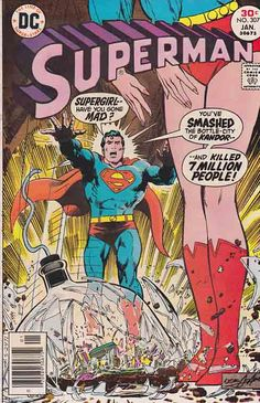 Superman 307 Neal Adams Cover Jan 1977