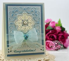 Card Making Ideas by Becca Feeken using the New 2014 Spellbinders Ornate Labels One - closeup