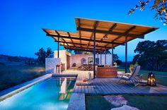 Pool house. Lake Flato. Texas