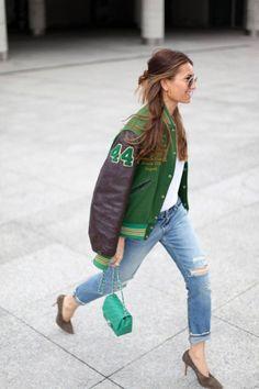 Bomber jacket, jock style