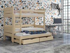 Dětská patrová postel 90 cm Celsa (borovice) | HezkýNábytek.cz Bunk Beds, Toddler Bed, Loft, Furniture, Home Decor, Child Bed, Decoration Home, Loft Beds, Room Decor