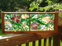 Garden Glass window {could hang this from a deck roof (above the railing) to get a little more privacy
