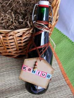 Making Homemade Kahlua  Ingredients:  4 cups water  3 cups sugar  1/4 cups instant coffee granules  3 Tablespoons Vanilla Extract  2 1/2 cups Vodka  Optional: 1 or 2 vanilla beans
