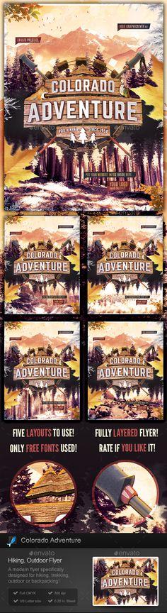 Adventure Summer Camp Flyer Template Flyer template, Camping and - camp flyer template