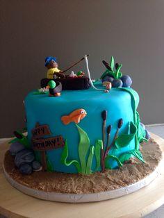 Fisherman cake #fishing #cake #fisherman #fondant