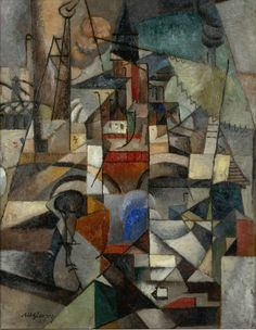 """Albert Gleizes: The City and The River (1913). Albert Gleizes, was a French artist, theoretician, philosopher, a founder of Cubism and an influence on the School of Paris. Albert Gleizes and Jean Metzinger wrote the first major treatise on Cubism, Du """"Cubisme"""", 1912."""